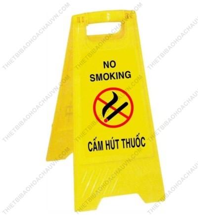 Biển cảnh báo chữ A khu vực cấm hút thuốc