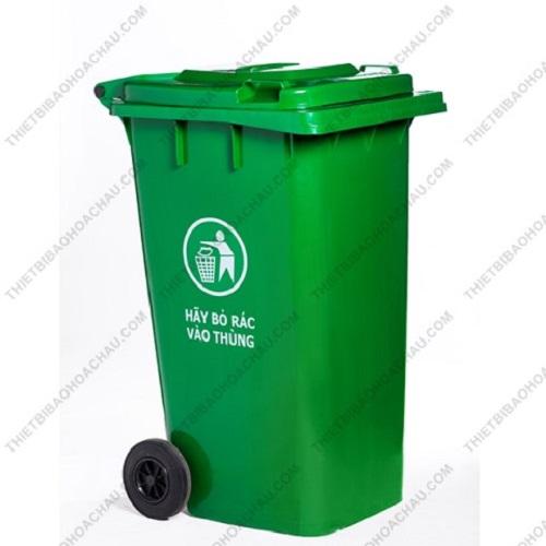Thùng rác công nghiệp nhựa HDPE nắp kín 240 lít