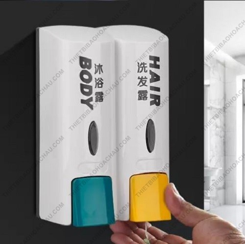 Bình đôi đựng sữa tắm & nước rửa tay body hair
