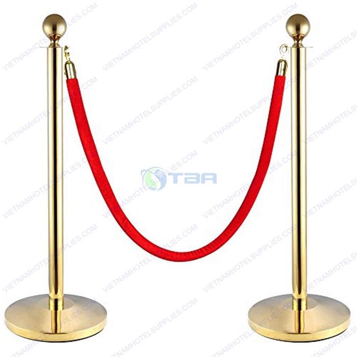 Cột chắn inox dây trùng mạ vàng cao cấp