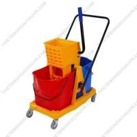 Xe  vắt mop cây lau sàn ướt công nghiệp 2 xô