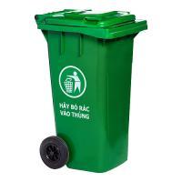Thùng rác nhựa HDPE màu xanh lá 120 lít