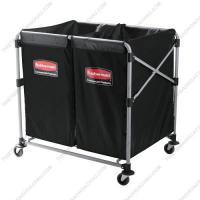 Xe thu gom đồ dơ - đồ giặt ủi cao cấp 02 ngăn