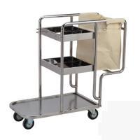 Xe đẩy dọn vệ sinh trong bệnh viện inox ba tầng