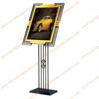 Bảng menu inox mạ vàng chân thép sơn tĩnh điện