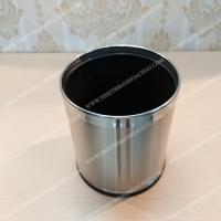 Thùng rác tròn 225 inox 2 lớp dùng cho văn phòng