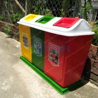 Thùng rác phân loại 3 ngăn composite cho Trường học