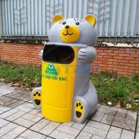 Thùng rác hình CHUỘT TÚI chất liệu composite cho trường học