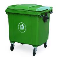Thùng rác nhựa công cộng 660 Lít màu xanh