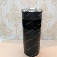 Thùng rác gạt tàn cao cấp màu đen cho khách sạn