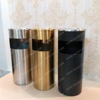 Bộ 3 thùng rác tròn GẠT TÀN cao cấp cho khách sạn