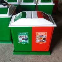 Thùng rác composite 2 ngăn phân loại Cho Trường học
