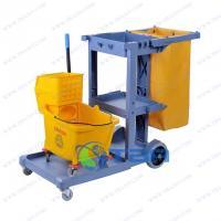 Bộ combo xe đẩy dọn vệ sinh Chữ L xanh- Xe ép nước cao cấp