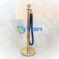 Barie phân làn mạ vàng dây trùng xoắn thừng xanh cho khu trưng bày