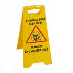 Biển hạn chế khu vực sử dụng hóa chất