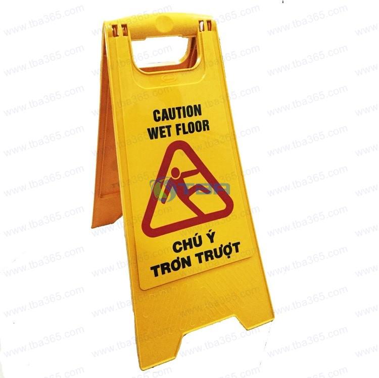 Biển cảnh báo sàn ướt cao cấp cho nhà hàng