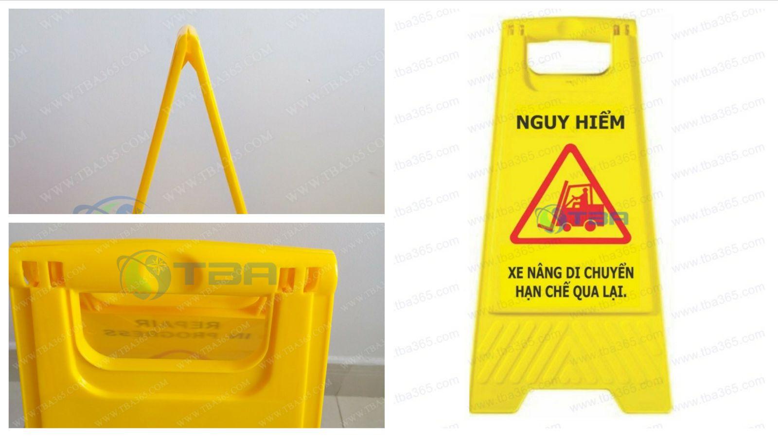 Bảng cảnh báo khu vực xe nâng làm việc- Á CHÂU