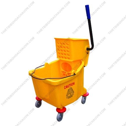 Xe vắt và ép nước đơn cây lau sàn ướt công nghiệp - xe vắt mop đơn cây lau sàn ướt công nghiệp